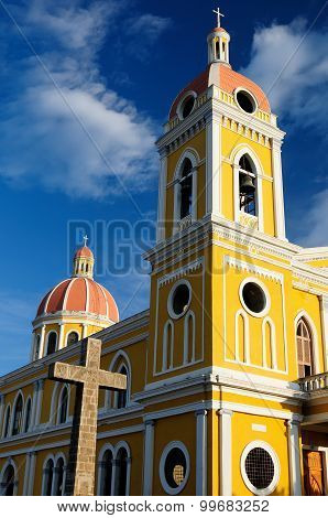Nicaragua, View On The Cathedral In Granada