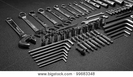Set of mechanical hand tools