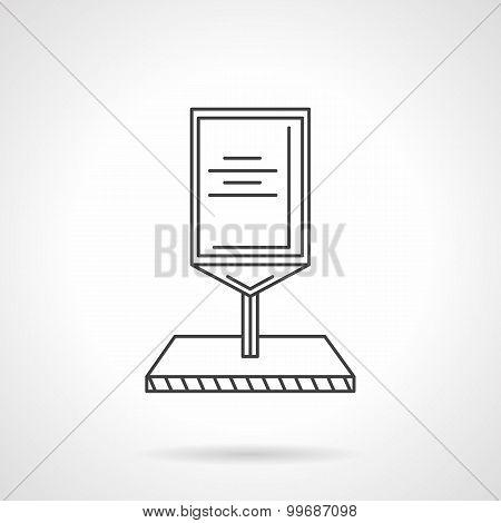 Line vector icon for roadside billboard.