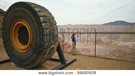 A Woman Gazes At The Morenci Mine