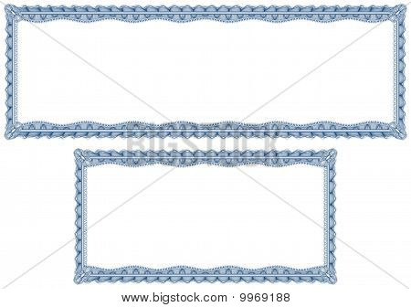 Blank Guilloche Borders For Diploma Or Certificate
