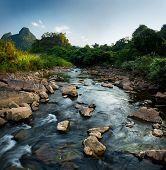 River in the National Park of Phong Nha Ke Bang. Vietnam poster