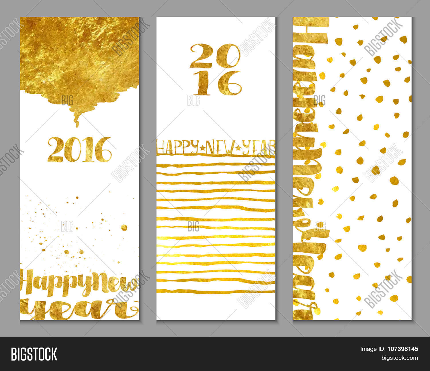 happy new year greetings vertical 2016 happy new year banners with shiny gold foil