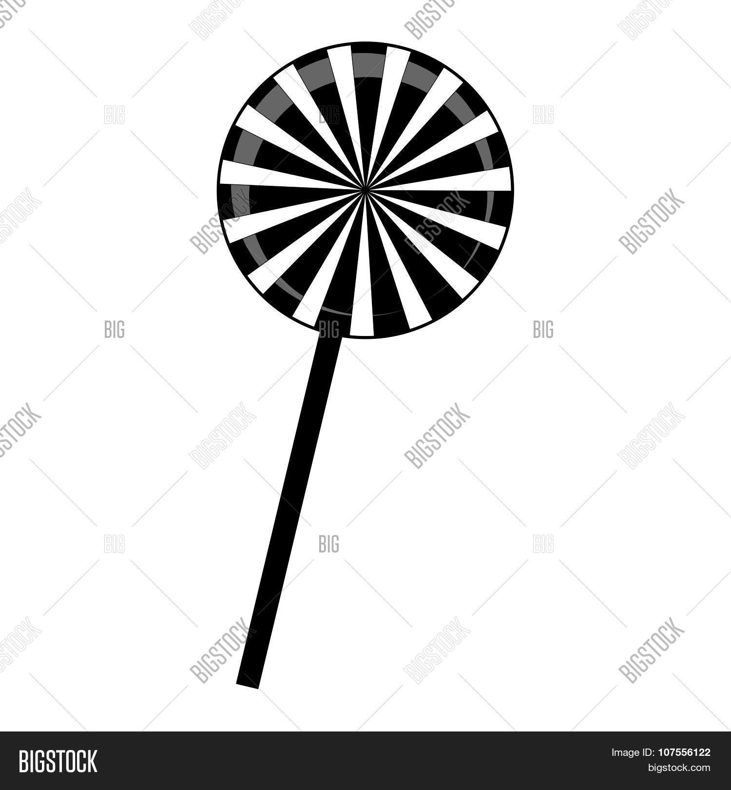Christmas Striped Lollipop Vector  for Clipart Lollipop Black And White  192sfw