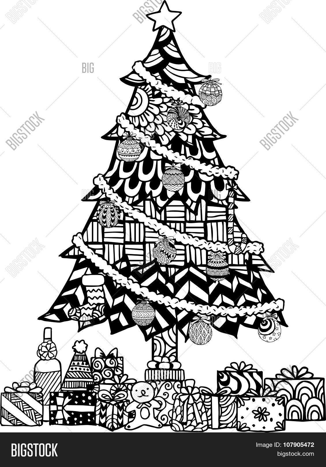 Hand Drawn Christmas Vector & Photo (Free Trial) | Bigstock