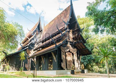 BAANDAM the thai style traditional wooden house in Chiang Rai, Thailand