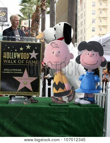 LOS ANGELES - NOV 2:  Craig Schultz, Charlie Brown, Snoopy, Lucy at the Snoopy Hollywood Walk of Fame Ceremony at the Hollywood Walk of Fame on November 2, 2015 in Los Angeles, CA