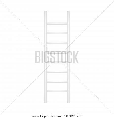 Wooden ladder in white design