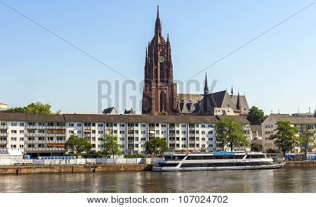 View On Old District Of Frankfurt Am Main, Germany