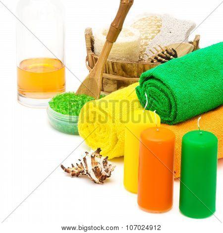 Set Of Bright Spa Accessories