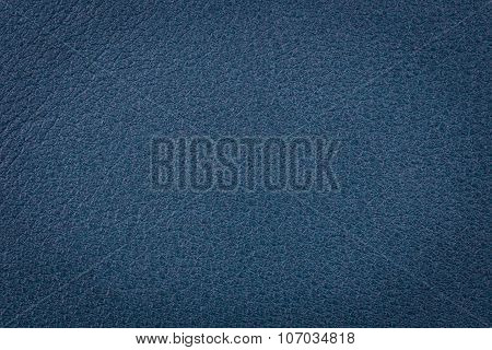 Dark Blue Leather Surface
