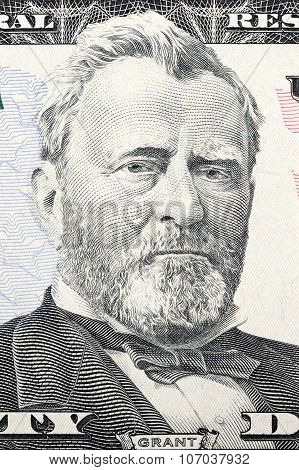 Portrait of Ulysses Grant on fifty dollars