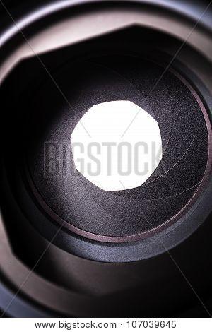 Macro View Of A Lens