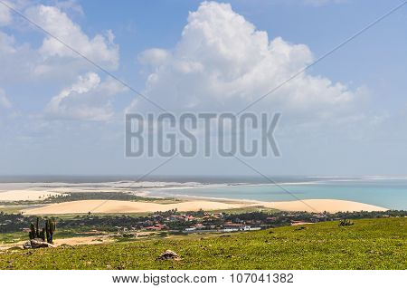 The View Of Jericoacoara From A Hill, Brazil