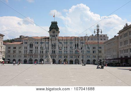 The City Hall, Historical  Building On Pizza Dell Unita D Italia.
