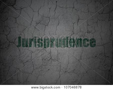 Law concept: Jurisprudence on grunge wall background