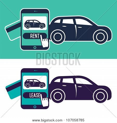 Rent a car banner. Car for rent banner. Business growth. Car loan banner. Rent a car concept. Car hire banner. Rental car. Car leasing. Rent a car infographics. Cars sale. Car business concept. Rental service.