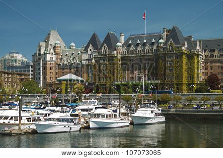 Victoria, British Columbia, Canada - May 19: The Fairmont Empress Hotel Facade
