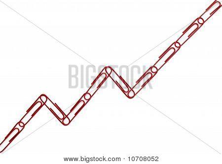 Paper Clips Chart Graph Finance Business