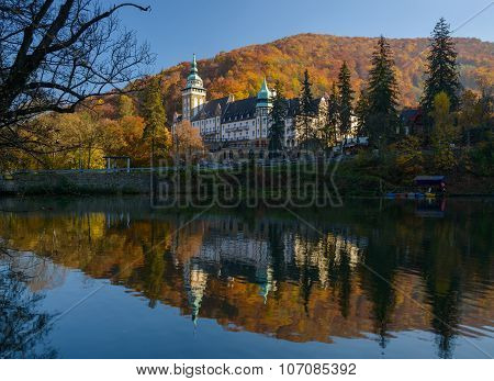 Lillafured Palace In Autumn