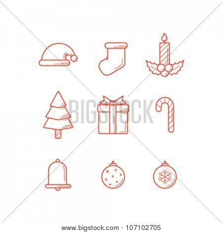 Christmas Icon thin line design