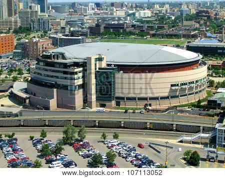 Denver, Usa - July, 3: Pepsi Center Arena On July 3, 2013  In Denver, Usa. The Arena Is Home To The