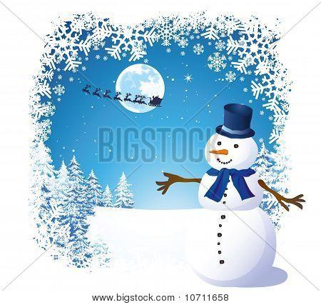 Christmas snowman card