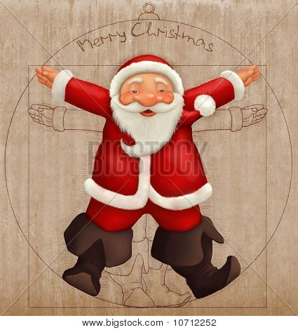 Vitruvian Santa Claus