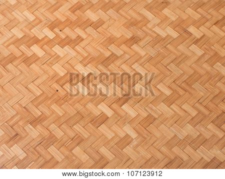 Straw Background, Texture Of Basket Bamboo Weave