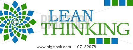 Lean Thinking Green Blue Square Elements