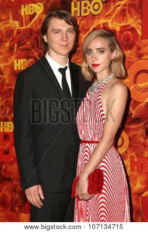 LOS ANGELES - SEP 20:  Paul Dano, Zoe Kazan at the HBO Primetime Emmy Awards After-Party at the Pacific Design Center on September 20, 2015 in West Hollywood, CA