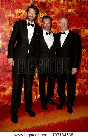 LOS ANGELES - SEP 20:  Timothy Simons, Reid Scott, Matt Walsh at the HBO Primetime Emmy Awards After-Party at the Pacific Design Center on September 20, 2015 in West Hollywood, CA