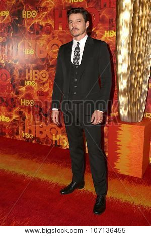 LOS ANGELES - SEP 20:  Pedro Pascal at the HBO Primetime Emmy Awards After-Party at the Pacific Design Center on September 20, 2015 in West Hollywood, CA