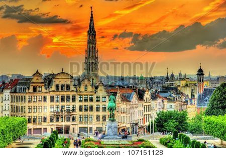 Dramatic Sunset Over Brussels - Belgium