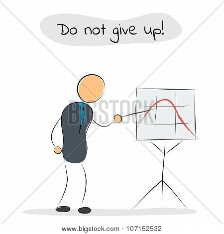 Businessman Shows On Growth Chart