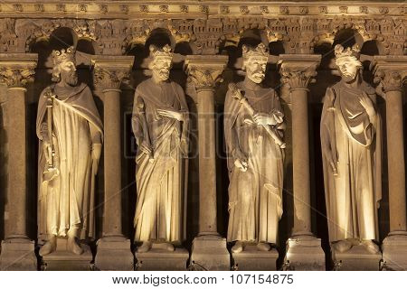 Detail In The Cathedral Of Notre Dame, Paris, Ile De France, France