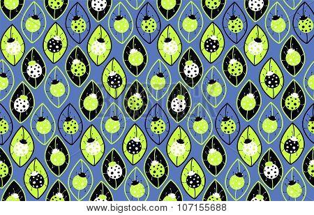 Ladybirds. Seamless background