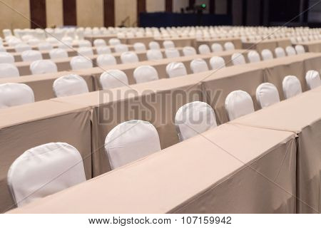 Empty Chair In Meeting Or Conference Room