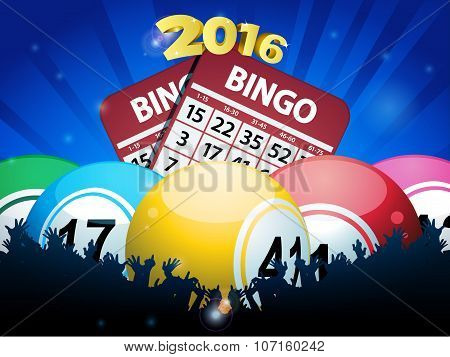 New Years Bingo Balls And Cards Background