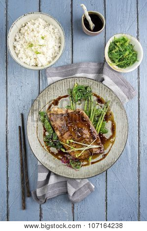 Coalfish with RIce and Vegetable
