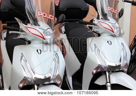 Scooters of the police of Monaco