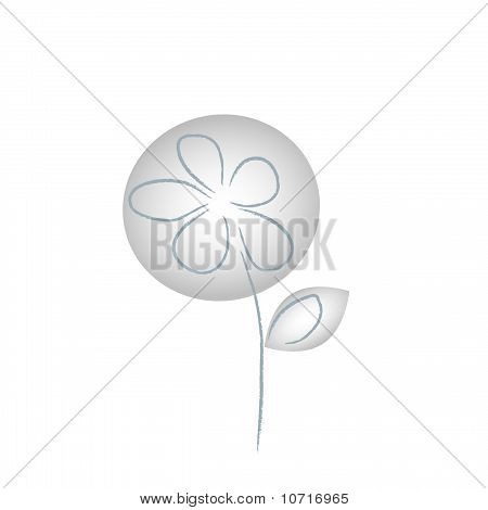 The Abstract Gray Flower.