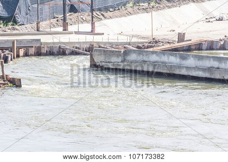 Barrage In Thailand For Regulating The Water Level