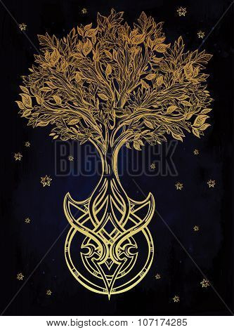 Celtic tree of life illustration.