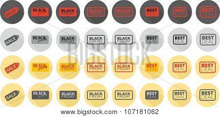 Black friday icons