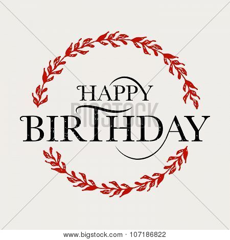 Happy Birthday Card Vector Photo Free Trial Bigstock
