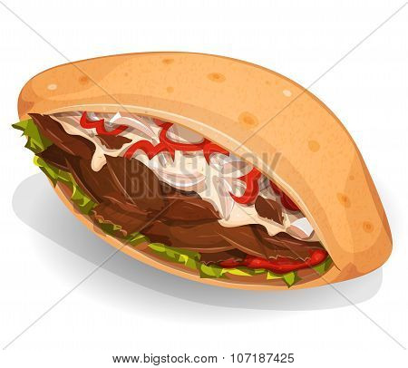 Kebab Sandwich Icon
