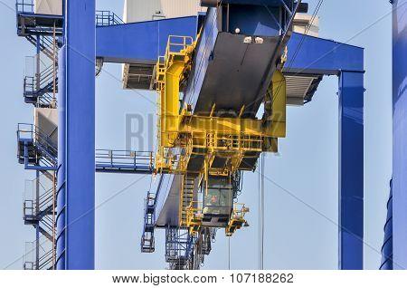 Sea Cargo Port Large Cranes