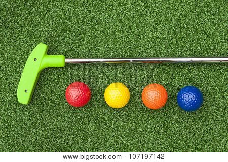 Green Putt Putt Club With Balls