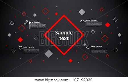 abstarct geometric background with place for text and icons